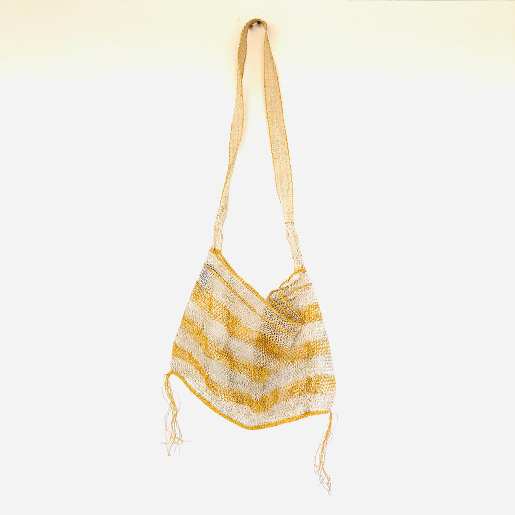 THE JUNGLE VINE naturally dyed turmeric striped bag