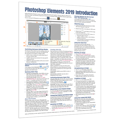 Adobe Photoshop Elements 2019 Introduction Quick Reference