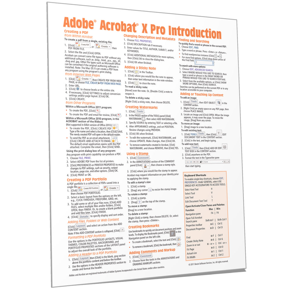 Adobe Acrobat X Introduction Quick Reference