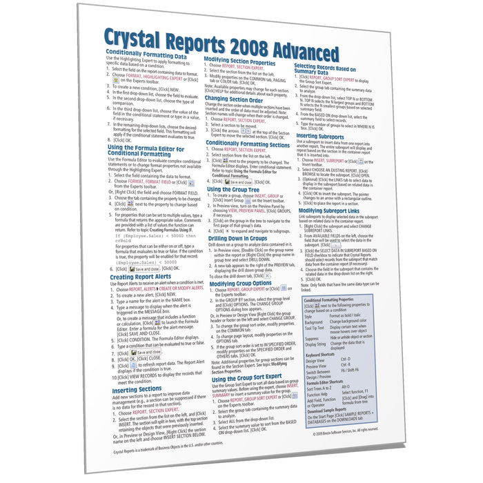 Crystal Reports 2008 Advanced Quick Reference