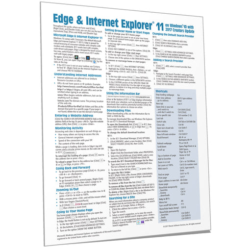 Edge & Internet Explorer 11 Quick Ref (Creators Update)