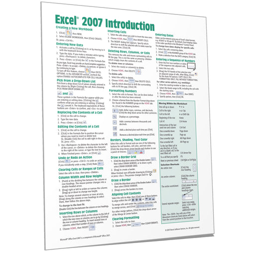 Excel 2007 Introduction