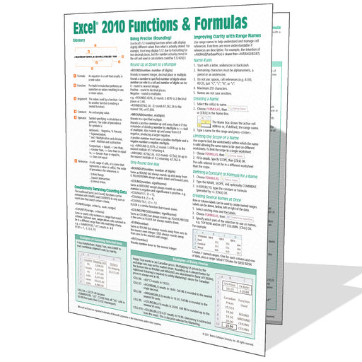 Excel 2010 Functions & Formulas Quick Reference