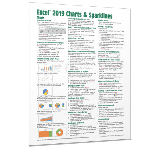 Excel 2019 Charts & Sparklines Quick Reference