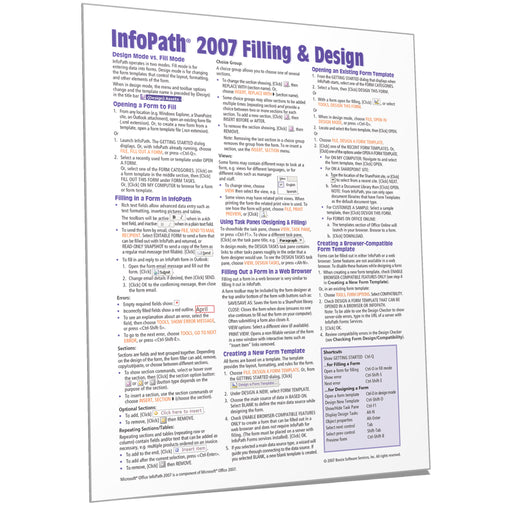 InfoPath 2007 Filling and Design Quick Reference