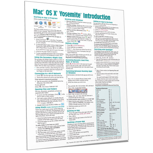 Mac OS X Yosemite Introduction Quick Reference