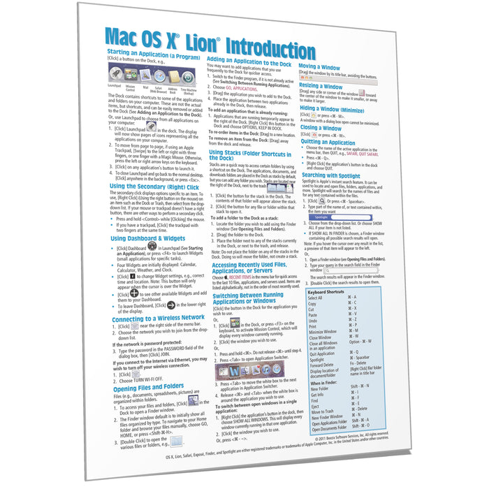 Mac OS X Lion Introduction Quick Reference