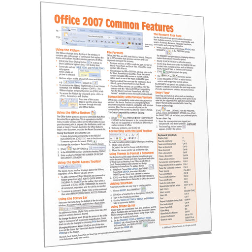 Office 2007 Common Features Quick Reference