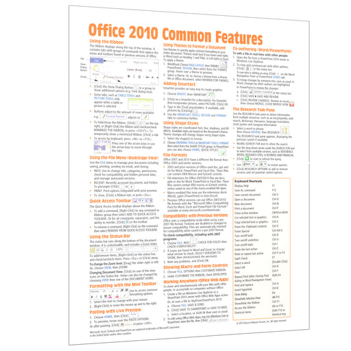 Office 2010 Common Features Quick Reference