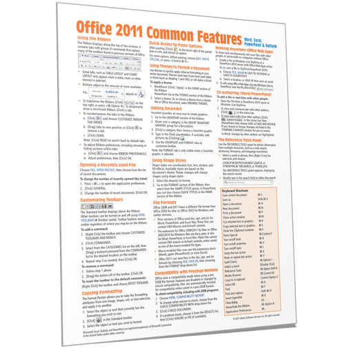 Office 2011 for Mac Common Features Quick Reference