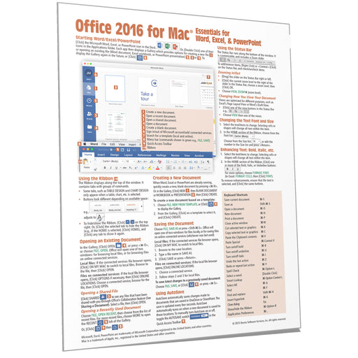 Office 2016 for Mac Essentials Quick Reference