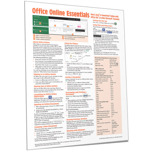 Office Online Essentials Quick Reference