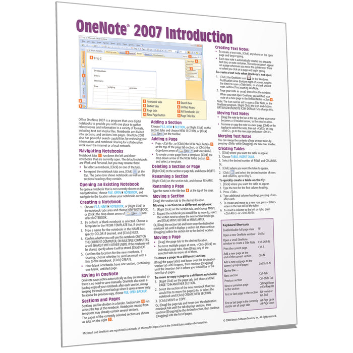 OneNote 2007 Introduction Quick Reference