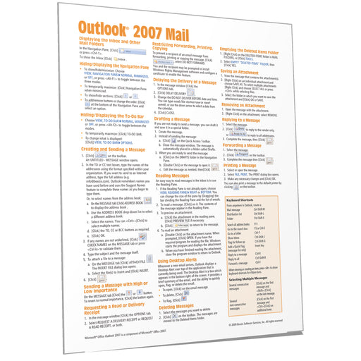 Outlook 2007 Mail Quick Reference