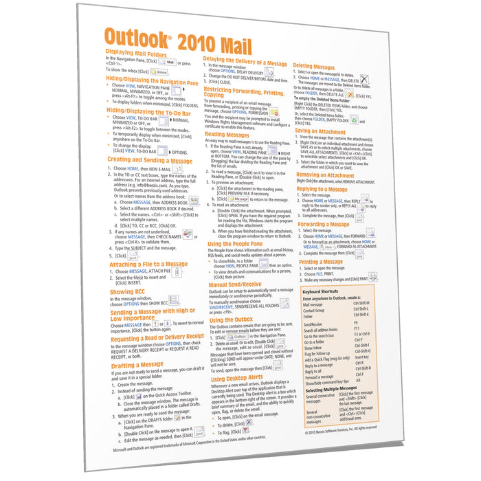 Outlook 2010 Mail Quick Reference