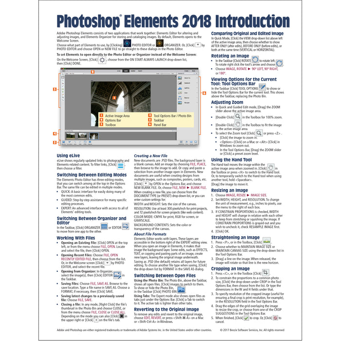 Adobe Photoshop Elements 2018 Introduction Quick Reference