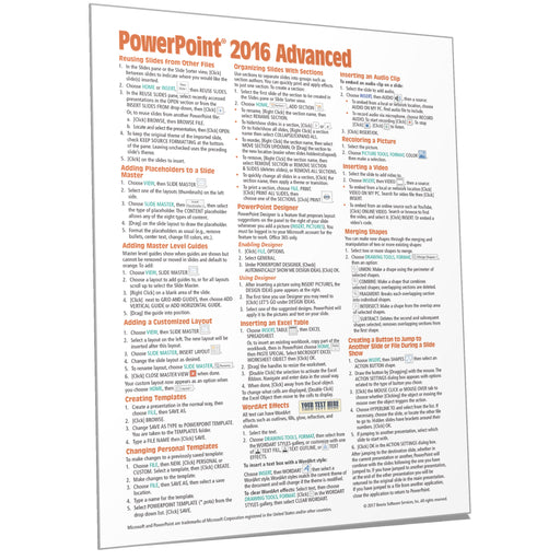 PowerPoint 2016 Advanced Quick Reference