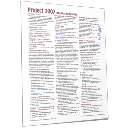 Project 2007 Handling Complexity Quick Reference