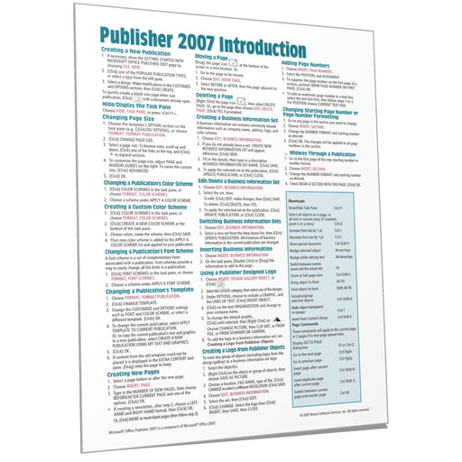 Publisher 2007 Introduction Quick Reference