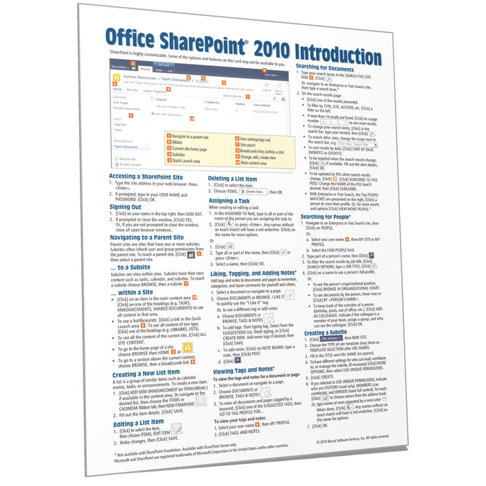 SharePoint 2010 Introduction Quick Reference