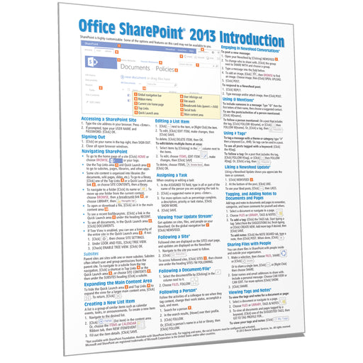 SharePoint 2013 Introduction Quick Reference