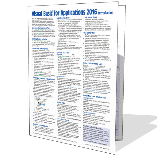 Visual Basic for Applications (VBA) 2016 Quick Reference