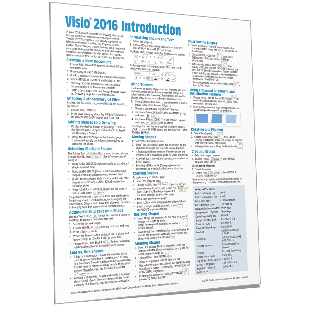 Visio 2016 Introduction Quick Reference