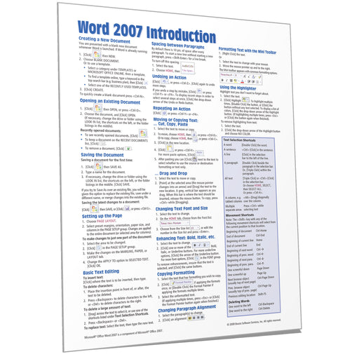 Word 2007 Introduction Quick Reference