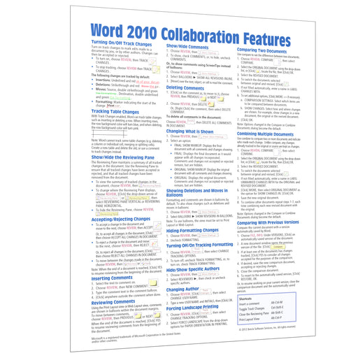 Word 2010 Collaboration Quick Reference