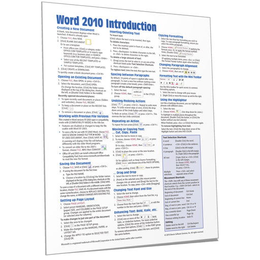 Word 2010 Introduction Quick Reference