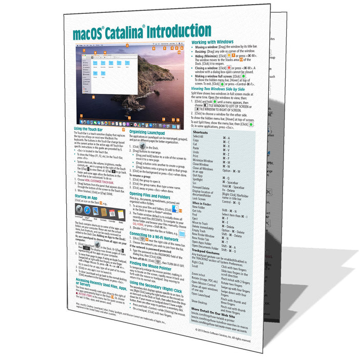 macOS Catalina Introduction Quick Reference