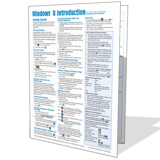 Windows 8 Introduction Quick Reference Guide