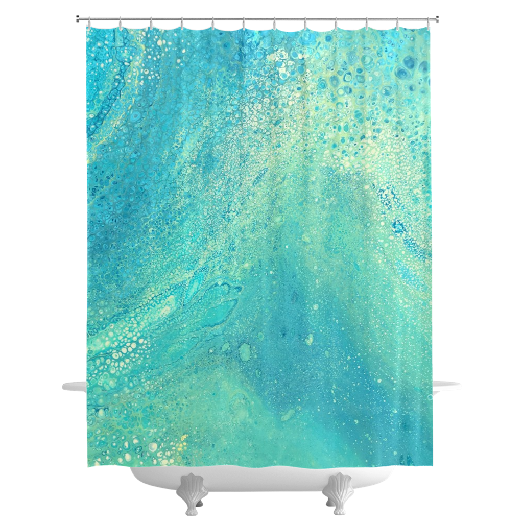 Shimmery Shower Curtain