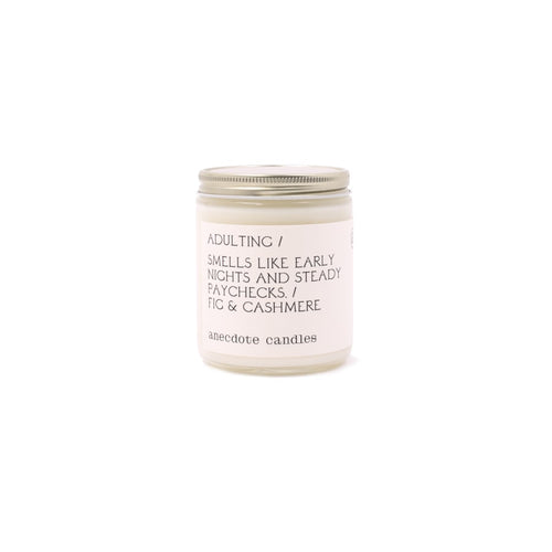 Adulting (Fig & Cashmere) - 7.8 oz Glass Jar Soy Candle