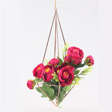 Load image into Gallery viewer, 10 inche Hanging Rose Gold Planter