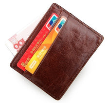 Load image into Gallery viewer, Unisex Genuine Leather Credit Card Holder
