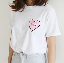 Load image into Gallery viewer, Pizza Heart Unisex T-shirt