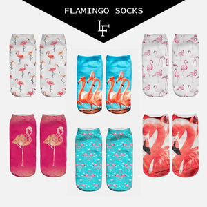 Flamingo low cut women's socks