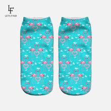 Load image into Gallery viewer, Flamingo low cut women's socks