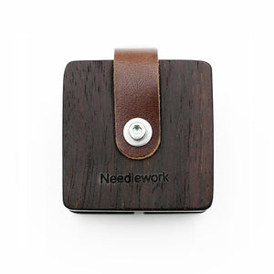 Leather Wrapped Wood USB Cable Organizer