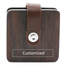 Load image into Gallery viewer, Leather Wrapped Wood USB Cable Organizer