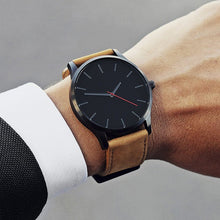 Load image into Gallery viewer, Men' Leather Simple Watch