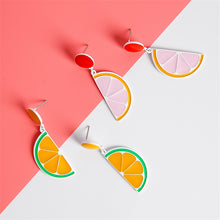 Load image into Gallery viewer, Lemon Stud Earrings