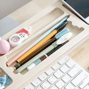 Minimal wood desk organizer