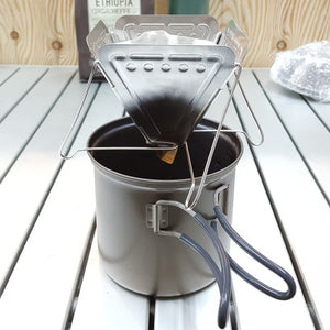 Foldable pour over coffee rack