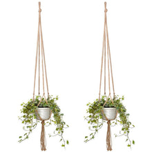 "Load image into Gallery viewer, 2 piece 47"" Macrame Plant Hanger"