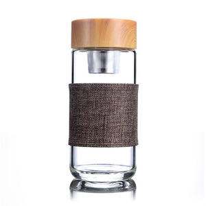 Glass Tea Infuser Tumbler