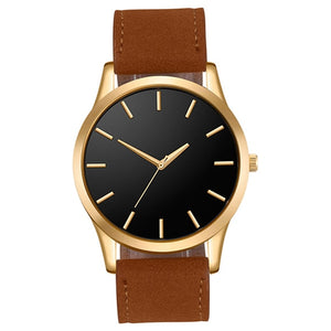 Men' Leather Simple Watch