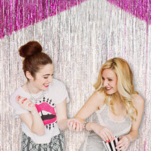 Load image into Gallery viewer, 3M Gold Pink Rainbow Sequin Foil Fringe Backdrop