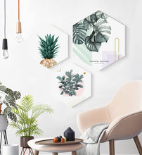 Load image into Gallery viewer, Framed Hexagon Plant Art